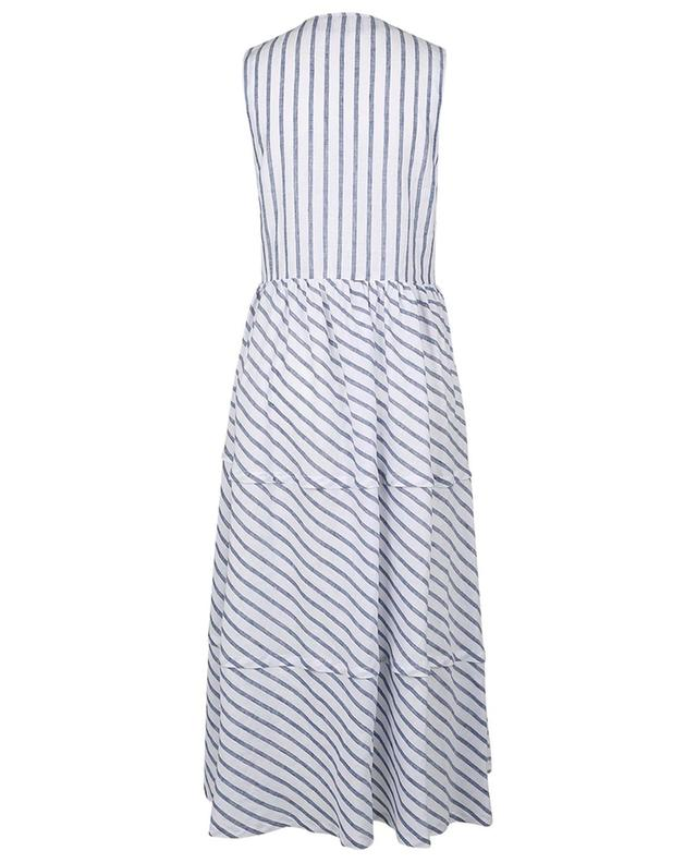 Robe rayée asymétrique en lin Lela ARTIGIANO