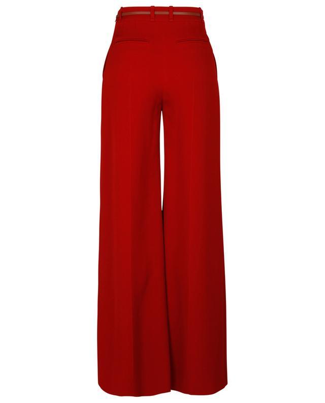 Pantalon évasé taille haute en crêpe double face CHLOE