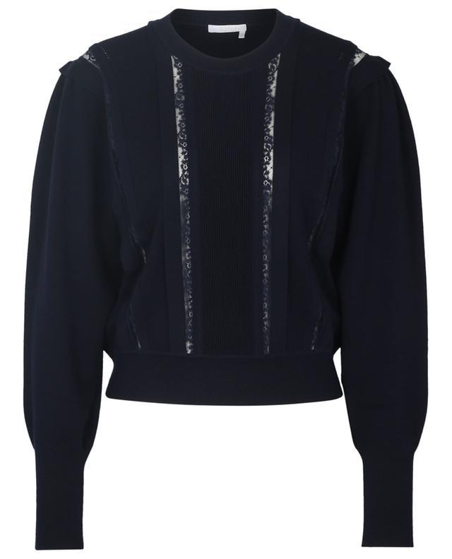 Feiner Pullover mit Spitzeneinsätzen CHLOE