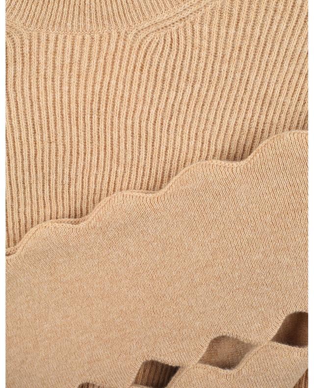 Pull en laine à manches bouffantes et découpes échancrées CHLOE