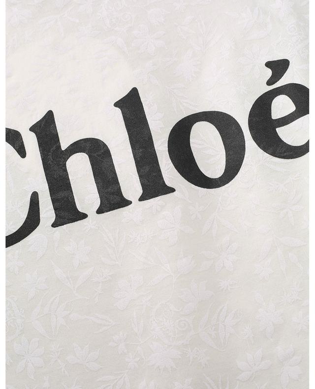 T-shirt boxy imprimé fleurs Carré CHLOE