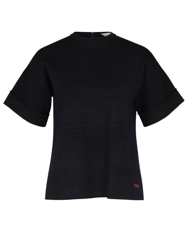 T-shirt en maille monogrammé VICTORIA VICTORIA BECKHAM
