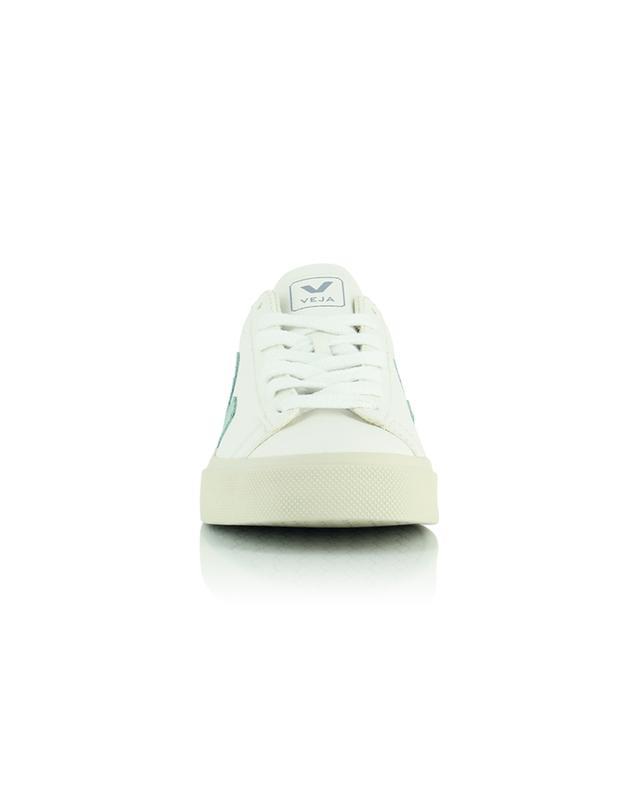 Baskets extra blanches avec empiècements matcha Campo Chromefree VEJA