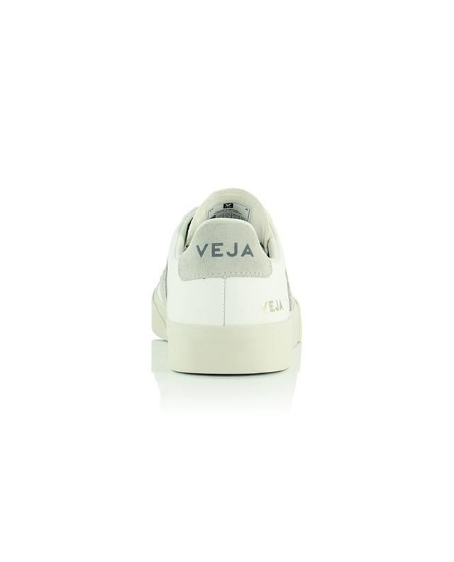 Baskets extra blanche avec empiècements en daim Campo Chromefree leather VEJA