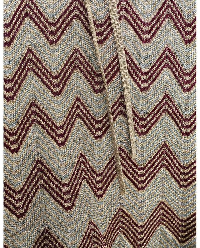 Débardeur en maille scintillante motif zigzag M MISSONI