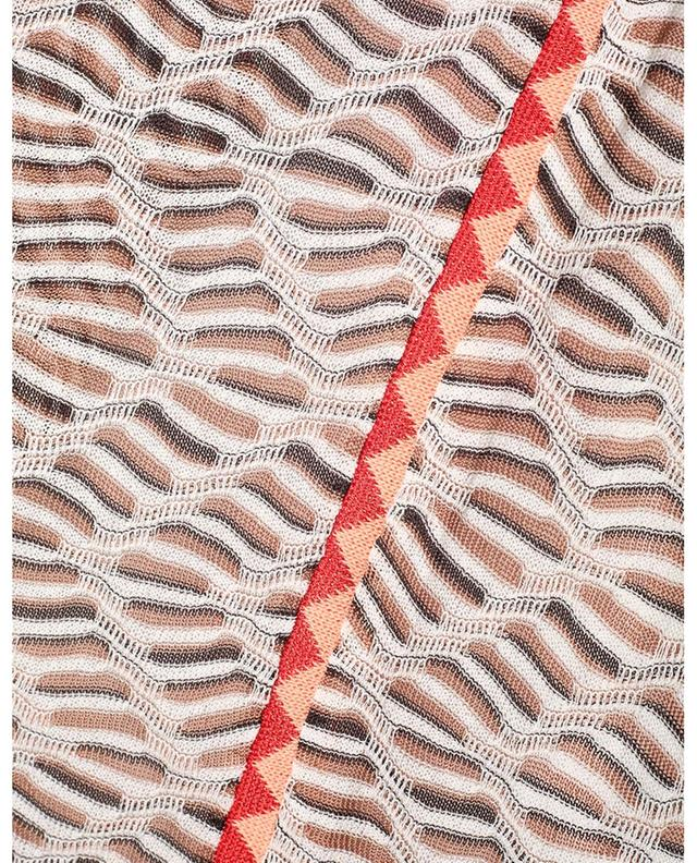 Minijupe en maille motifs zigzag M MISSONI