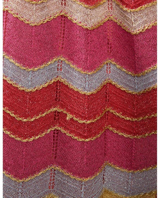Pantalon large en maille scintillante motif zigzags M MISSONI