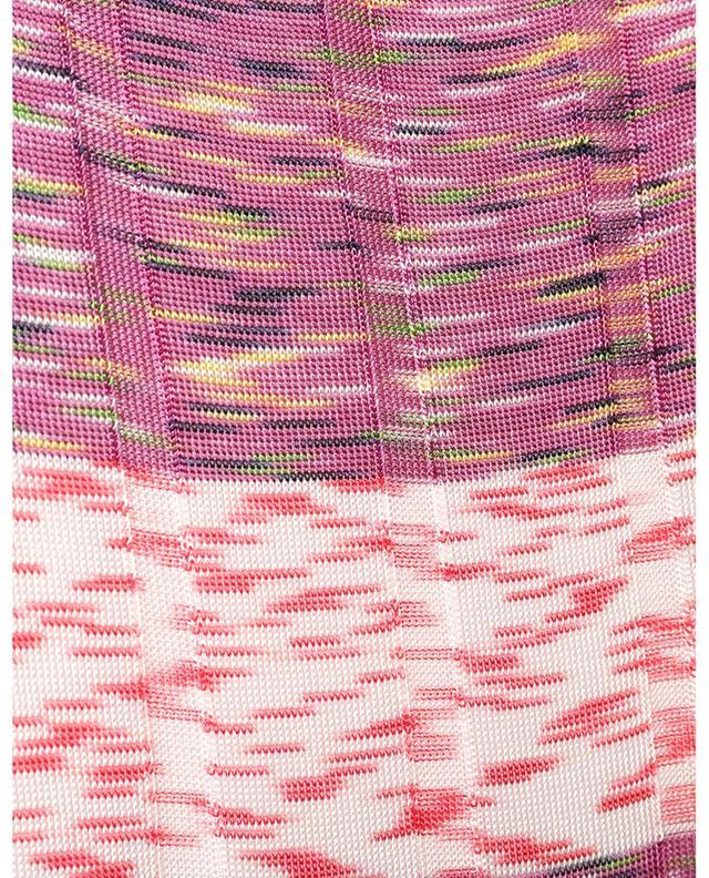 Robe chaussette longue en maille multicolore M MISSONI