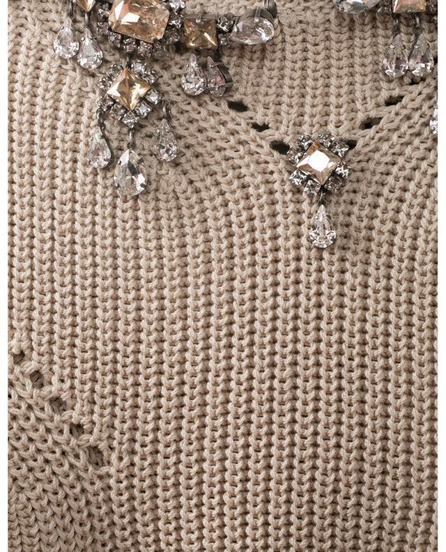Pull boxy ajouré en coton embelli de cristaux ERMANNO SCERVINO