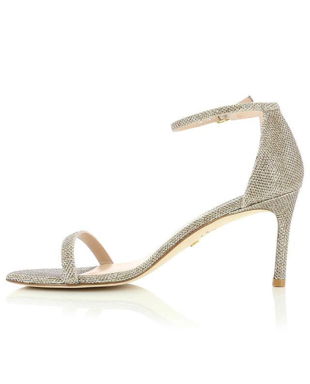 Sandales à talon en tissu lurex Amelina 75 STUART WEITZMAN