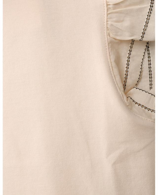 T-shirt doté de manches volants en voile de coton MARC CAIN