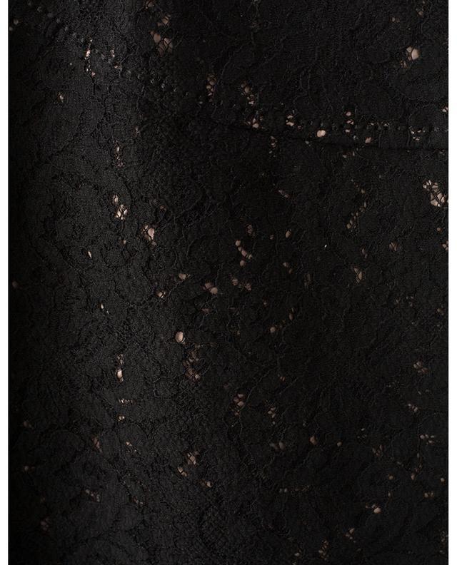 Jupe crayon en dentelle noire avec zip dans le dos N°21