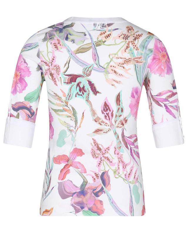 T-shirt en jersey finement côtelé imprimé fleurs MARC CAIN