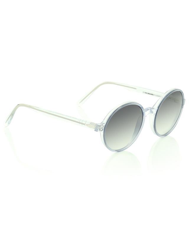 The Dreamer II round sunglasses in clear grey acetate VIU