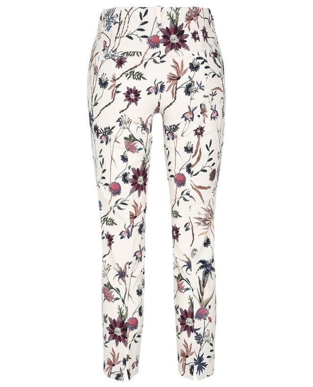 Pantalon stretch raccourci fleuri Ros Summer Cropped CAMBIO
