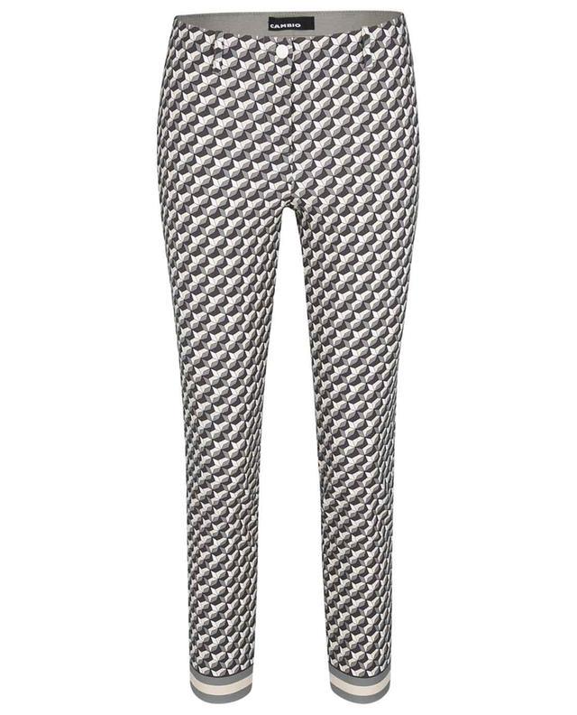 Pantalon stretch imprimé motifs géométriques Ros Summer Cropped CAMBIO