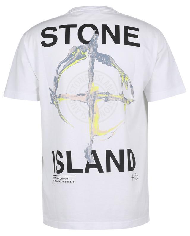 T-shirt en jersey imprimé 2NS85 Marble Three STONE ISLAND