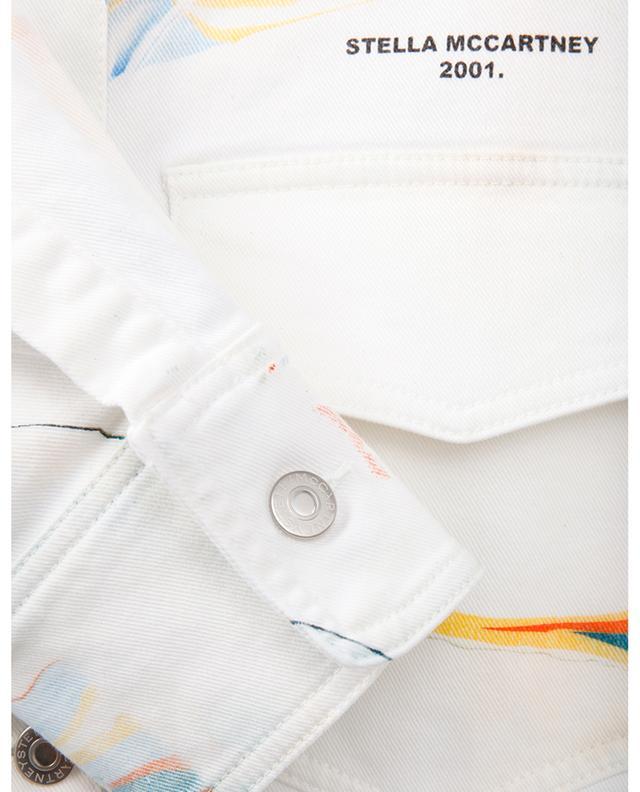 Veste en jean effet marbré Marble on White STELLA MCCARTNEY