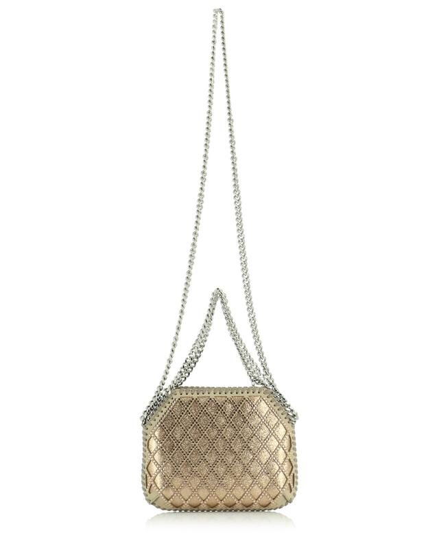 Mini sac en daim synthétique pailleté orné de cristaux Falabella STELLA MCCARTNEY