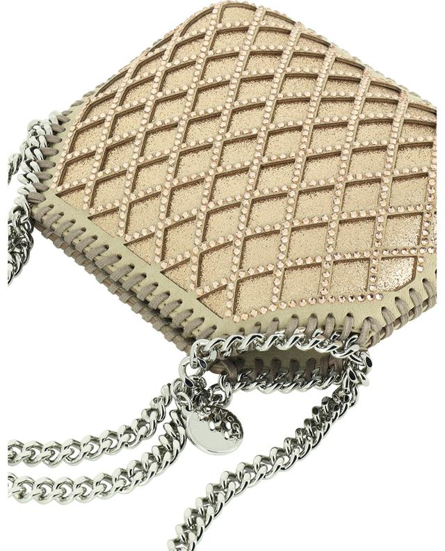 Falabella Mini glitter faux suede bag with crystals STELLA MCCARTNEY
