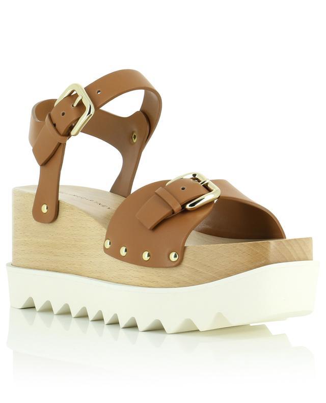 Sandales compensées en cuir synthétique Elyse STELLA MCCARTNEY