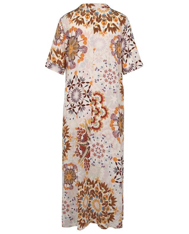 Robe tunique en soie fleurie Altamura MOMONI