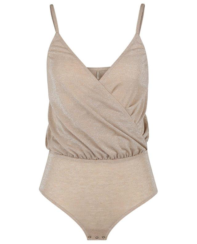 Body cache-coeur en jersey de lurex Salento MOMONI