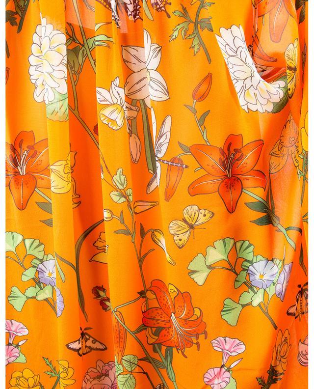 Robe longue en crêpe fleurie à volants HERZEN'S ANGELEHEIT