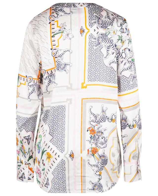 Blouse en soie avec imprimé patchwork HERZEN'S ANGELEHEIT