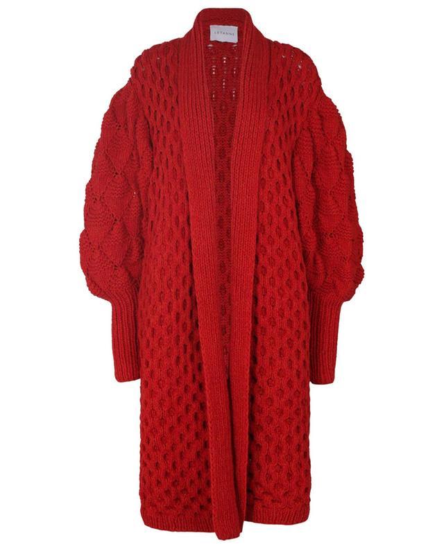 Manteau long en cachemire et alpaga Julie LETANNE