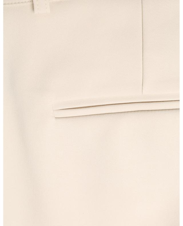 Cropped straight fit cotton stretch trousers MAISON COMMON