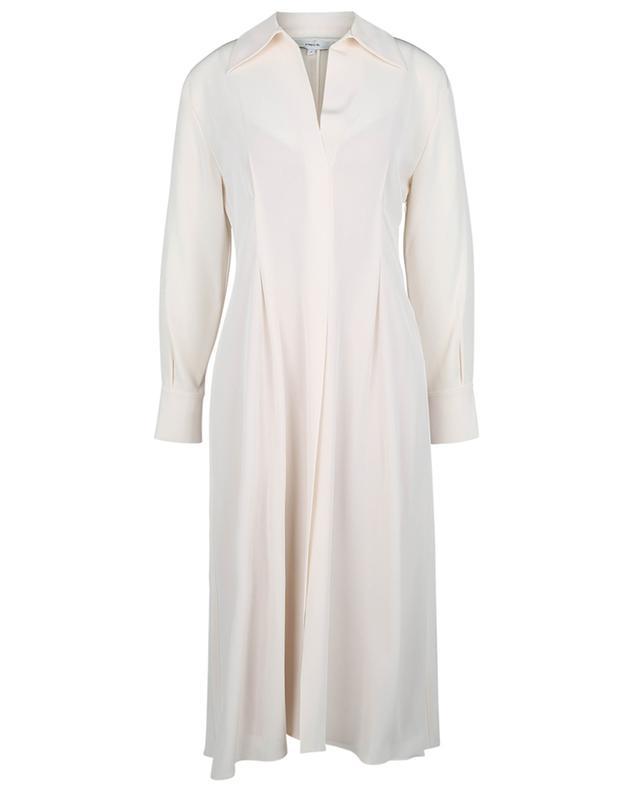 Robe à col drapé et à manches longues VINCE