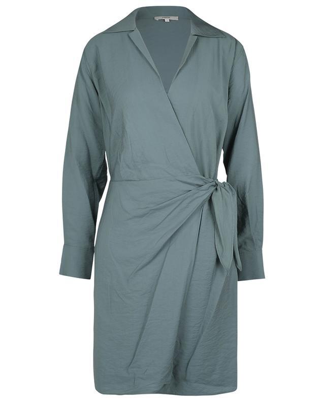 Robe chemise portefeuille à manches longues VINCE