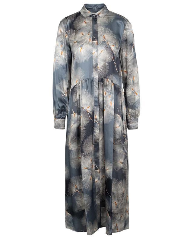 Robe longue en satin japonisant Royaume HARTFORD