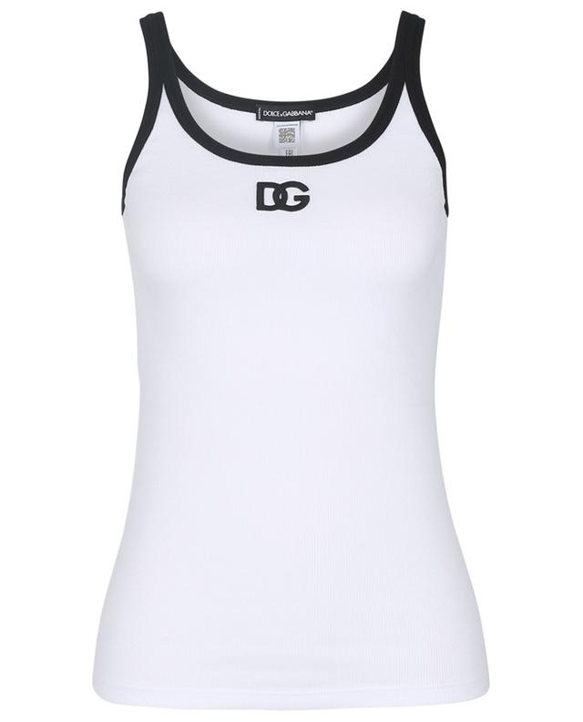 DG embroidered fine rib jersey tank top DOLCE & GABBANA