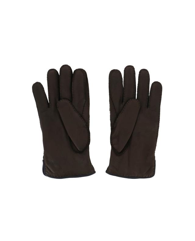 Leather and cashmere gloves PIERO RESTELLI