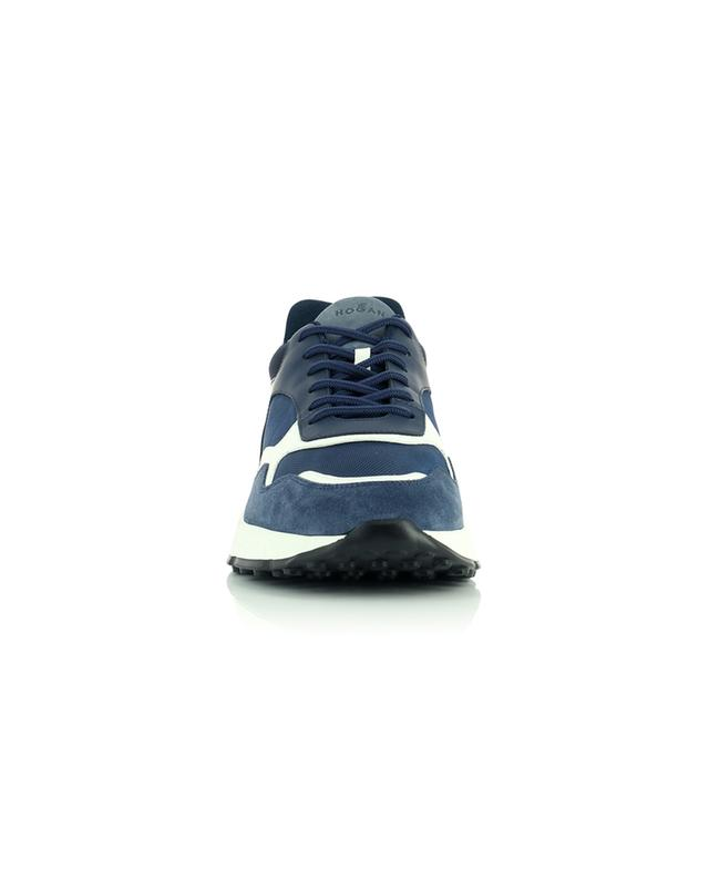 Hogan Hyperlight multi material sneakers in blue shades HOGAN