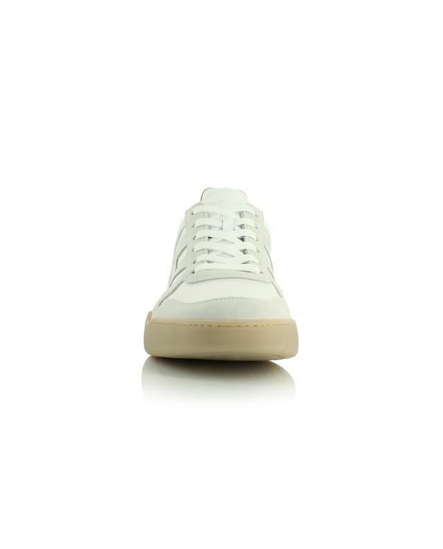 H357 white multi-material low-top lace-up sneakers HOGAN