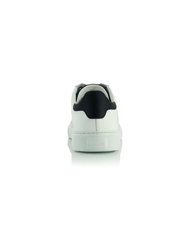 Baskets basses à lacets en cuir lisse blanc H365 H Canaletto HOGAN