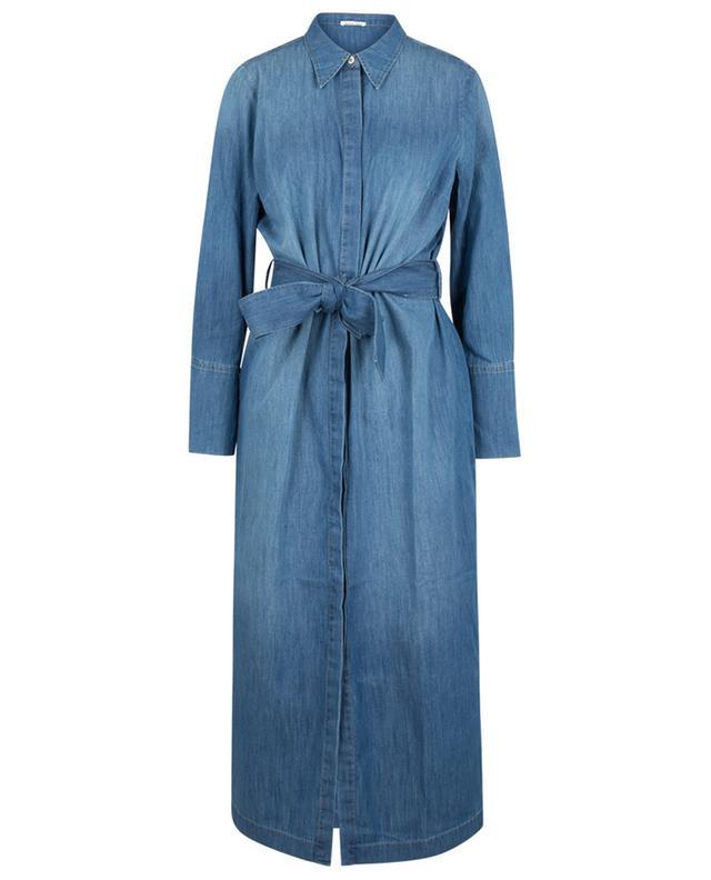 Leichtes midilanges Hemdkleid aus Denim Stella HANA SAN