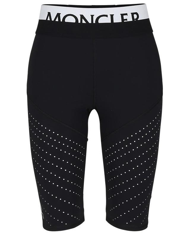 Short cycliste en jersey peforé détail logo MONCLER