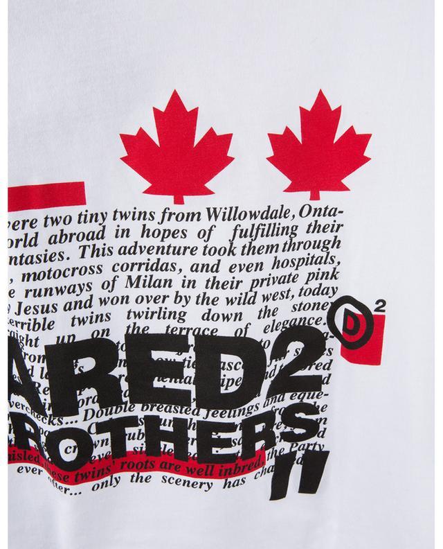 T-shirt à imprimé citation en coton DSQUARED2