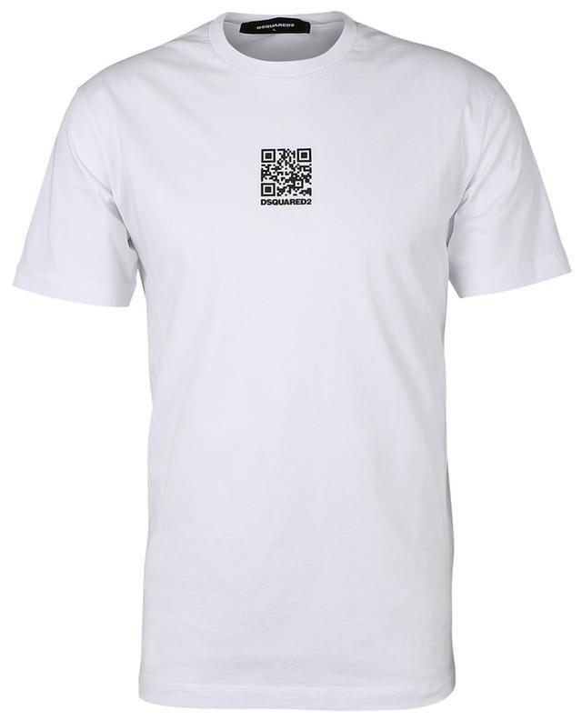 T-shirt à code QR en coton DSQUARED2