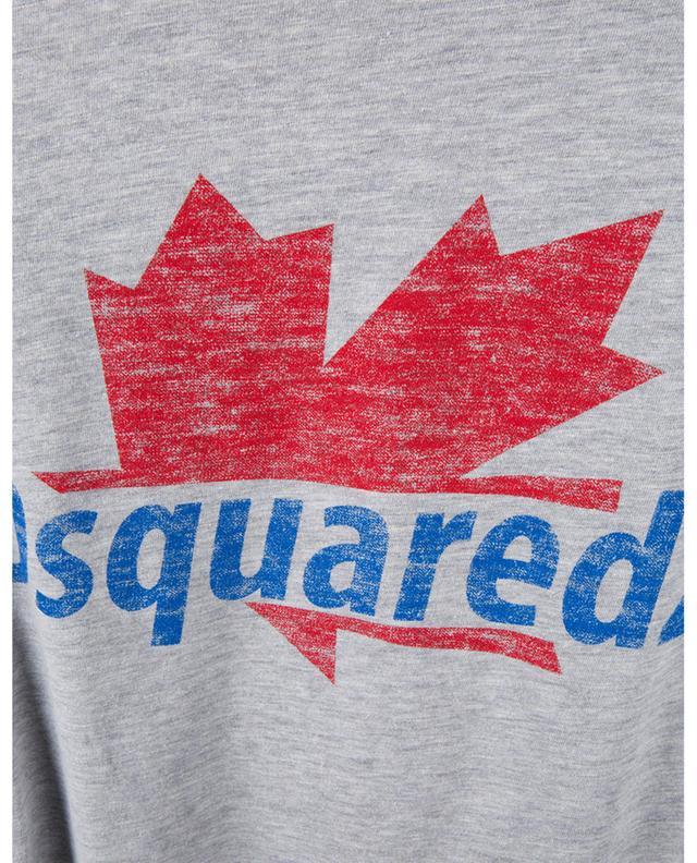T-Shirt motif logo en coton et viscose chiné DSQUARED2