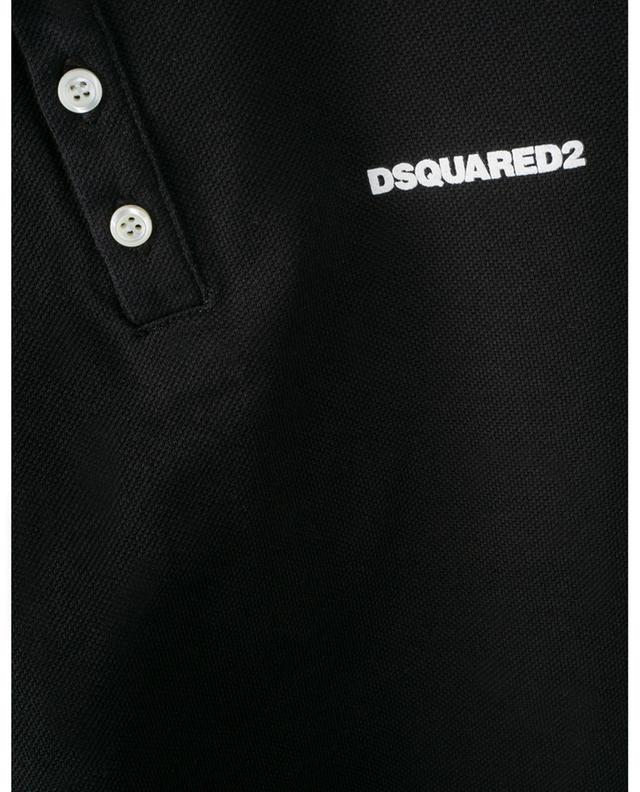 Polo en coton imprimé logo DSQUARED2