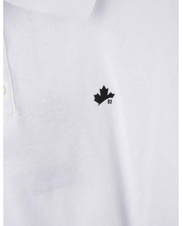 Polo en coton avec imprimé feuille d'érable Tennis Fit DSQUARED2