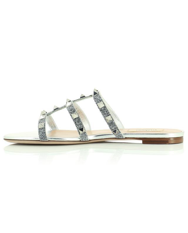 Sandales plates avec cristaux Swarovski Rockstud VALENTINO