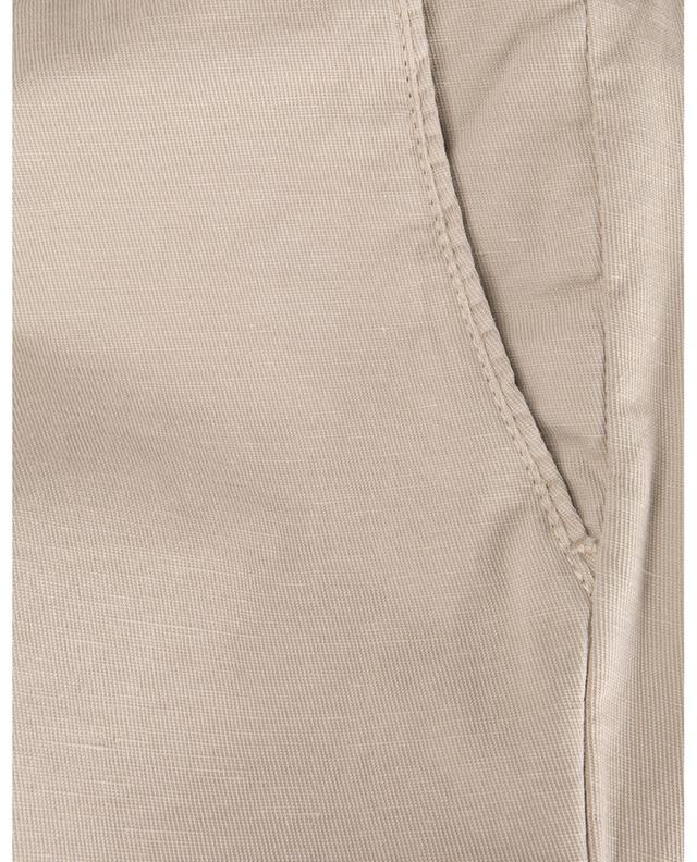 Pantalon chino slim en coton et lin B SETTECENTO