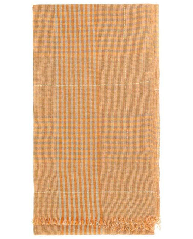 Écharpe en coton et lin motif prince-de-galles Divo 19 ANDREA'S 47