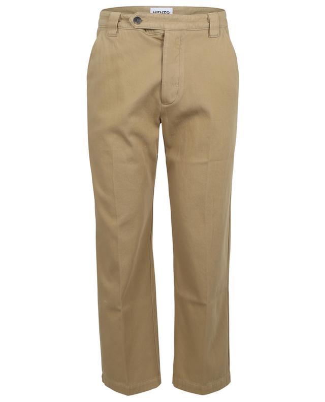 Pantalon droit raccourci en gabardine KENZO